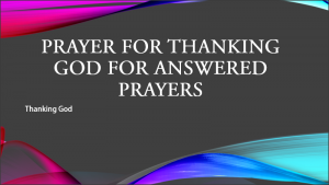 Prayer for Thanking God  for Answered Prayers pdf