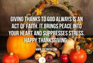 Happy thanks giving christian inspirational quote