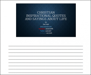 Christian inspirational quotes and sayings handouts pdf