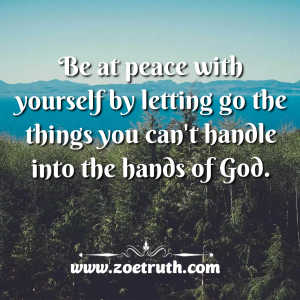 Be at peace with yourself christian inspirational quotes