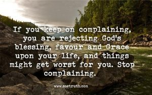Christian Inspirational quote about complaining all the time